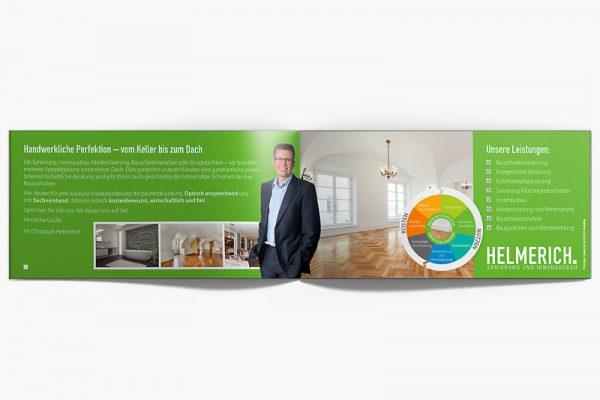 Klappflyer Sanierung und Innenausbau