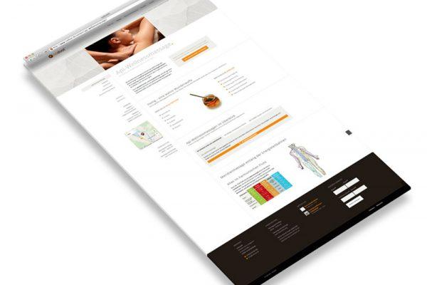 Webdesign Produktseite naduat