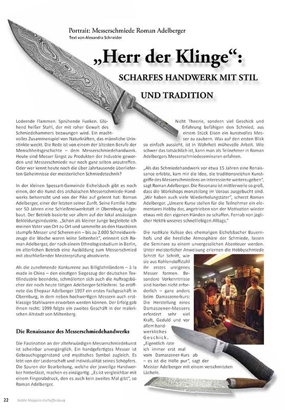 Artikel Messerschmiede - Alexandra Schneider