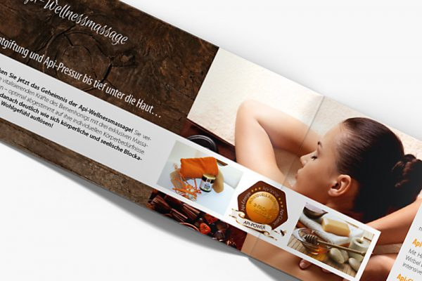 Imagebroschüre Wellnessmassage