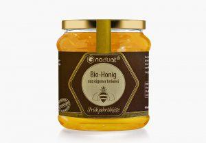 Honigglas-Etiketten Frühjahrsblüte