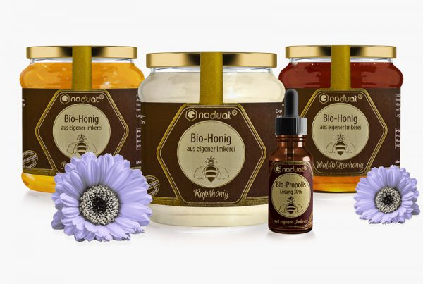 Honigglas-Etiketten und Etikett Propolistinktur