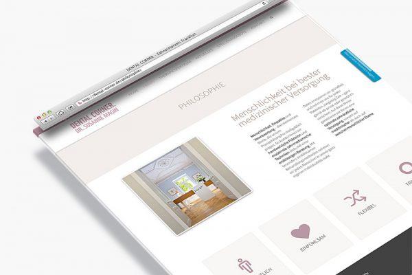 Website Dental Corner - Philosophie