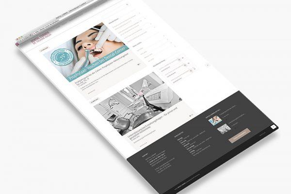 Website Dental Corner - Aktuelles