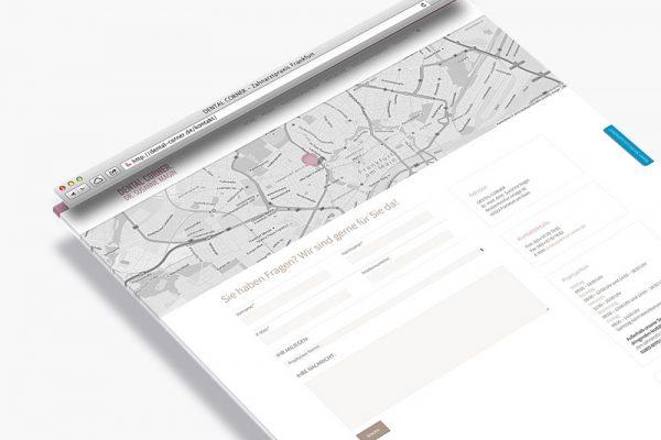 Website Dental Corner - Kontakt
