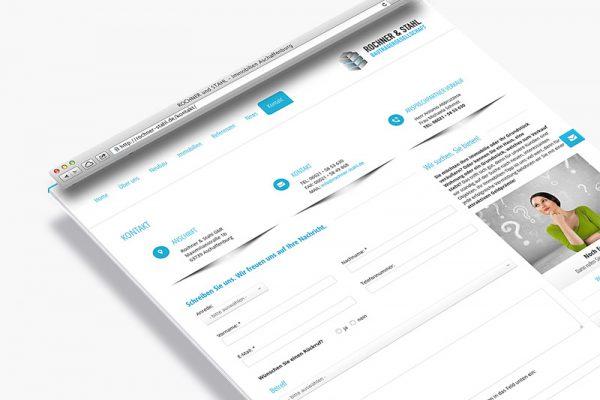 Website Rochner und Stahl - Kontakt