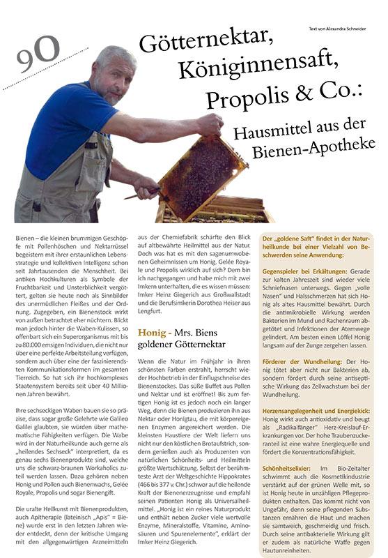 Redaktioneller Beitrag: Bienenprodukte